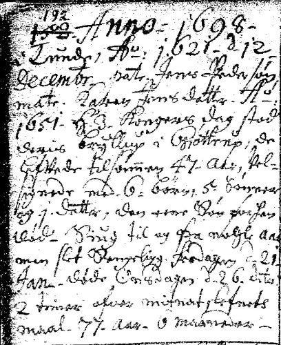 Jacob Jensen død 1698b